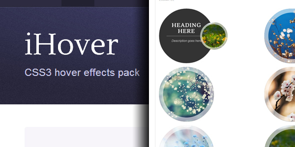 iHover une collection de survols en HTML5 et CSS3