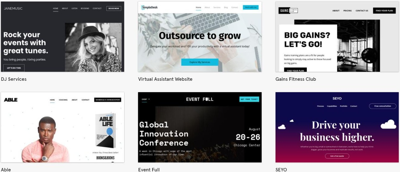 templates sites leadpages